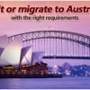 Requirements for travelling and migrating to Australia