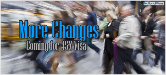 More Changes Coming for 457 Visa