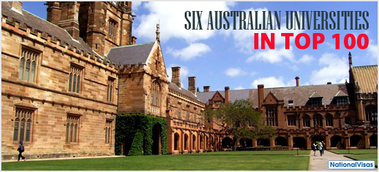 Six Australian Universities in Top 100