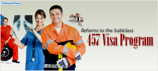 Reforms to the Subclass 457 Visa Program