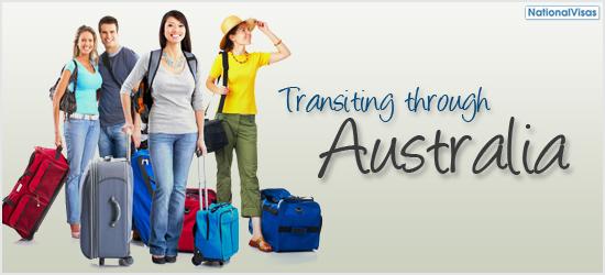 Transiting through Australia