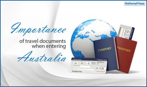 Make sure you have an appropriate travel document prepared for travel to Australia