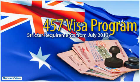 457 Visa: Stricter requirements to roll out in July 2013