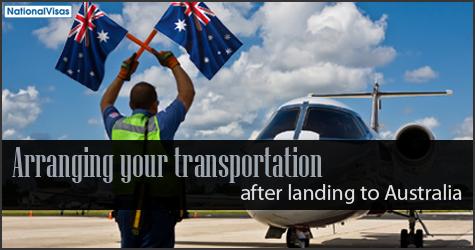 Arranging your transportation after landing to Australia