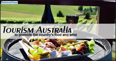 Tourism Australia to promote the country's food and wine