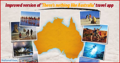 Improved version of 'There's nothing like Australia travel' app