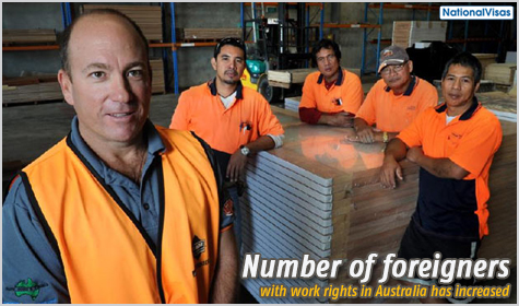 Migrants with work rights contribute to Australia's economy