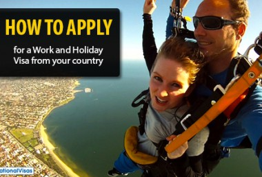 Work and Holiday Visa application procedures for specific countries