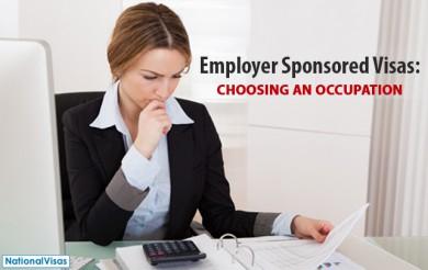 Choosing an occupation for an Employer Sponsored visa