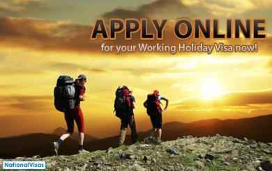 Online applications for Working Holiday Visas