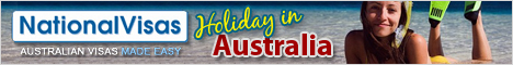 Do you want to live in Australia? Now you can with National Visas! Click here to apply online instantly for a Visa!  National Visas, Australian Visas made easy.
